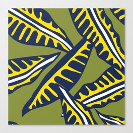 DR Topical Leaves Canvas Print