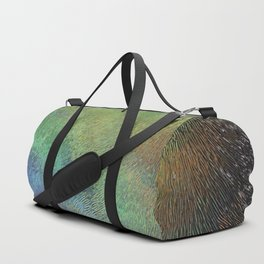 Wavy Abstract Colorful Frosted Glass Duffle Bag