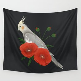 Light Grey/Cinnamon Cockatiel Wall Tapestry