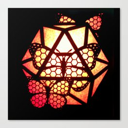 Burning Butterfly Lantern  Canvas Print