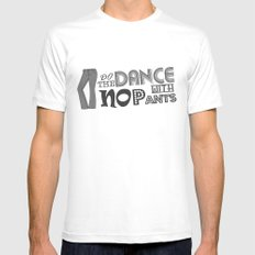 Dance With No Pants White MEDIUM Mens Fitted Tee