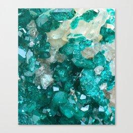 Teal Rock Candy Quartz Canvas Print