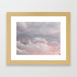 Cloud layers of Pink Framed Art Print