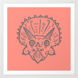 Asteroid Anxiety - Triceratops Art Print