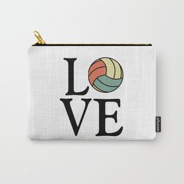 Volleyball Love - Vintage Sport Ball Design Carry-All Pouch