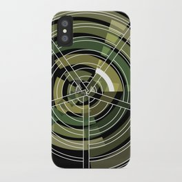 Exploded view camouflage iPhone Case