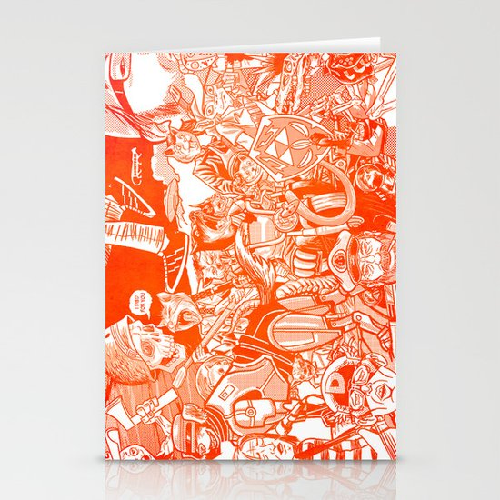 explosion! Stationery Cards