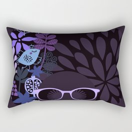 Afro Diva : Sophisticated Lady Purple Lavender Rectangular Pillow