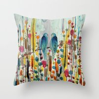 andreas preis Throw Pillows featuring we by sylvie demers