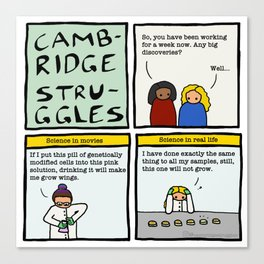 Cambridge stuggles: Science Canvas Print