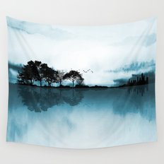 Nature Guitar Blues Wall Tapestry