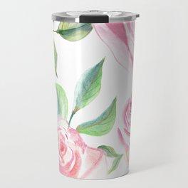 Roses Water Collage Travel Mug