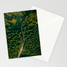 Wall Art Decor, Aerial Photo Print of Pine Forest in Czech Republic | by Mate Valtr Stationery Cards