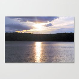 Sunset at Concord's Walden Pond 10 Canvas Print