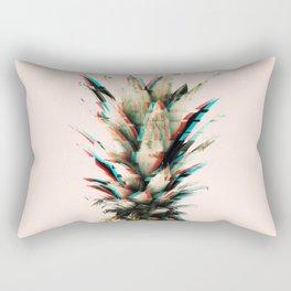 Glitch effect pineapple Rectangular Pillow