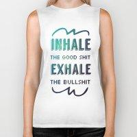 breathe Biker Tanks featuring BREATHE by snaticky