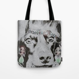Overly Concerned Dachshund Glamour Tote Bag