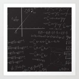 Mathematical seamless pattern Art Print