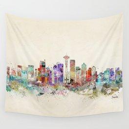 seattle city skyline Wall Tapestry
