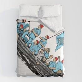 Team Zissou Crossing the Delaware Comforters