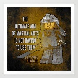 Samurai Musashi Martial Arts quote Art Print