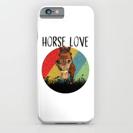 Retro Horse Horse Love Riding Funny iPhone Case