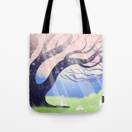 Soft Light On Soft Hares In Aloquil's Glades Tote Bag