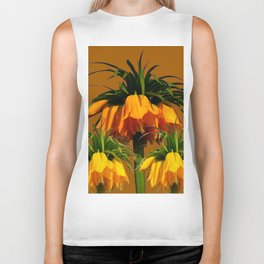 CARAMEL COLOR YELLOW CROWN IMPERIAL FLOWERS Biker Tank