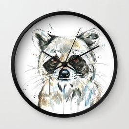 Peekaboo Raccoon Wall Clock