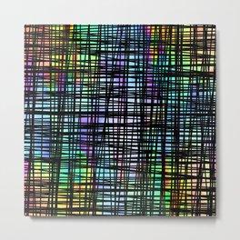 Colorful striped DP035-2 Metal Print