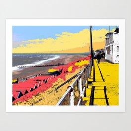 Southwold Promenade Style Art Print