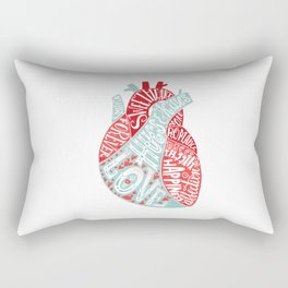 Letters of Love Rectangular Pillow