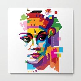 Bali Dancer in WPAP Metal Print