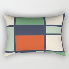 Bauhaus Abstract Pattern 10 Rectangular Pillow