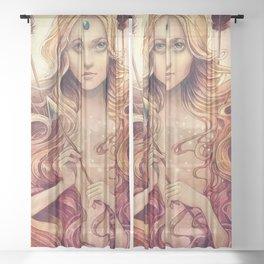 Zodiac Stagittarius Sheer Curtain