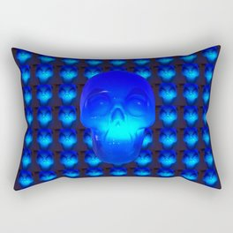 Blue Crystal Skull Rectangular Pillow