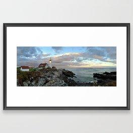 Headlight Lighthouse Framed Art Print