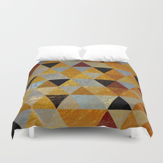 Abstract #382 Copper Foil Duvet Cover