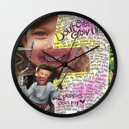 Grow Up by Seattle Artist Mary Klump Wall Clock