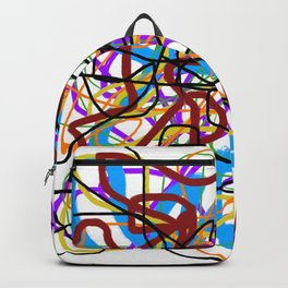 Rainbow Energy Abstract Digital Painting Backpack