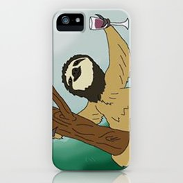 Sloth and Wine iPhone Case