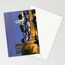 Braganca castle at dusk, Portugal Stationery Cards