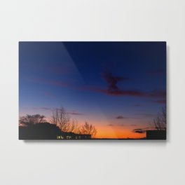 Sunset over the roofs Metal Print