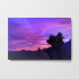 Desert Sunset - Mormon Mountains Wilderness, Nevada Metal Print