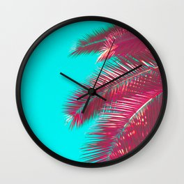 Neon Palm Wall Clock