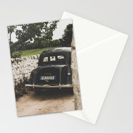 Citroën traction avant, Apulia photography, vintage car, old cars, sports car, Puglia photography Stationery Cards
