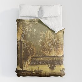 Currier & Ives Grand Display of Fireworks Comforters
