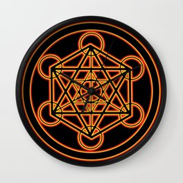 Metatron Red Gold Wall Clock