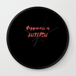 Happiness is Jujitsu Wall Clock