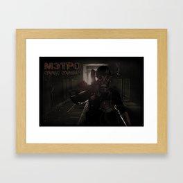 Enter the Metro Framed Art Print